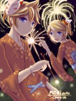 Fireflower - Vocaloid Kagamine Rin-Len by Caneera