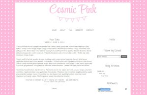 Blogger Template- Cosmic Pink by candypow
