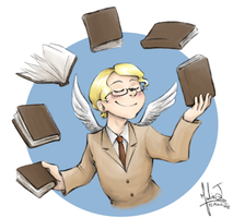Bibliophilia by Ilovetodraw