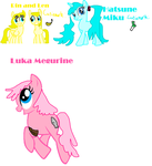 Pony Vocaloids by silvyathehedgie99