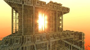 sunrise in the temple of the overlords - Game 5 by Bramvan