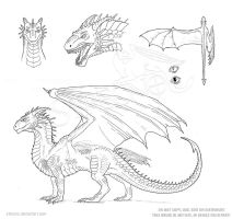 Dragon Character Sheet Template by Strecno
