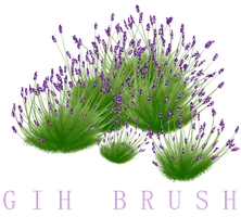 Free GIMP Lavender brushes by Unseenivy253