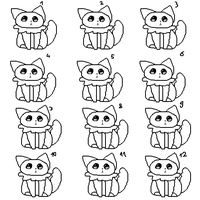 lineart - kitty adoptable sheet base free 3 by ChezuAdoptables