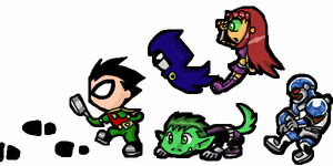 Tween Titans Go by scotty9359