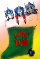 Optimus Prime Christmas by rougedeath