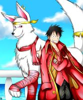 Luffy And Blizzard by Smudgeandfrank