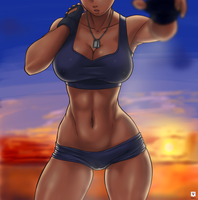 Sunset Gym by Kawa-V