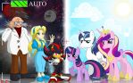 Comm: Sonic and MLP - Family Portrait by BroDogz