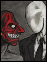 Lipstick Face vs SlenderMan by Cageyshick05