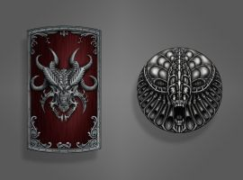 Dark Souls Shield Concepts by ArtofGunn