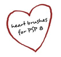 PSP8 HEART brushes by gorjuss-stock