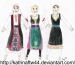 3 Women Dancing Kolo by KatrinaFTW44