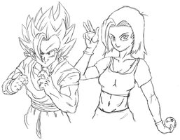 Rebou and Eva [sketches] by Yoh92