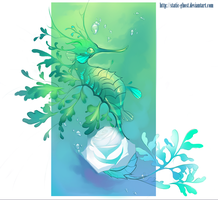 Sea rose dragon by Static-ghost