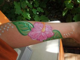 Hibiscus Face Paint by BengalTiger4