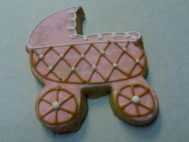 Baby Carriage Cookie by eckabeck