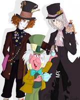 Mad Hatter x 3 by 5ande