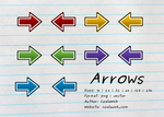Arrow Icons 5 colours and multiple sizes by CoalaWeb