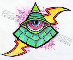 All Seeing Eye Pyramid Tattoo Flash by neonpaledead