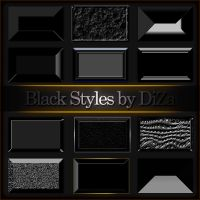 Black styles for Photoshop by DiZa-74