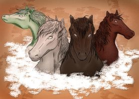 four horses of the apocalypse by wigx