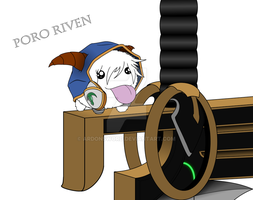 League Of Legends - Poro Riven by ArdonSword