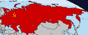 Flag Map of Soviet Union (USSR) by LtAngemon