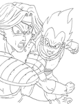 Vegeta vs Zarbon by OsoroshiiYasai