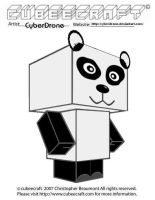 Cubeecraft - Panda Bear by CyberDrone
