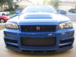 Nissan R34 Skyline GT-R Front in the U.S. Soil by granturismomh