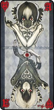 Augen Auf: Ace of Hearts by yuumei
