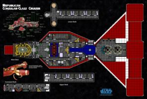 Old Republic Consular-Class Cruiser by TheShepster