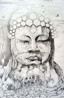 Dreaming Buddha by knotty-inks