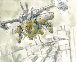 Mono-eye-equipped-MV22 by NORIMATSUKeiichi