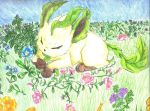 leafeon art trade by Nat-sama