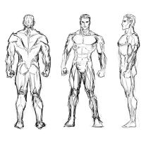 Male Study Sketch by MasterSS