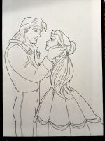 Adam and Belle WIP by wiegand90