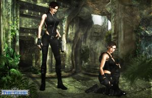 Lara and Doppelganger by typeATS