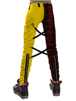 Bondage Pants Tartan Yellow WiP 2 by crowhitewolf