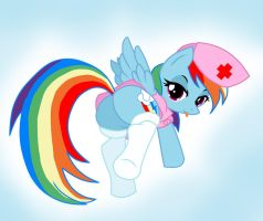 Rainbow Dash Nurse by Pyruvate