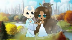 Aang x Katara by KamikoChans-usagi