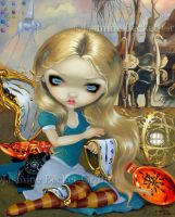 Alice in a Dali Dream by jasminetoad