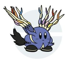 Kirby / Xerneas by Elenwae