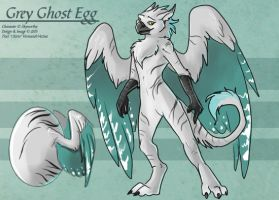 GreyGhost (Hatched Adoptable) by Ulario