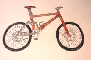 Trek Bike (Drawing) by OscarK9