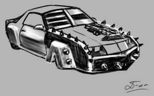 Post-Apocalyptic Camaro Sketch by DrD-no