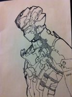 Isaac Clarke, Dead Space, Drawing by ramaparooo