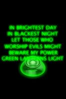 Green Lantern Ring and Oath background by KalEl7