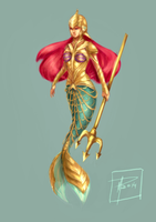 Mermaid Armor by jadenwithwings